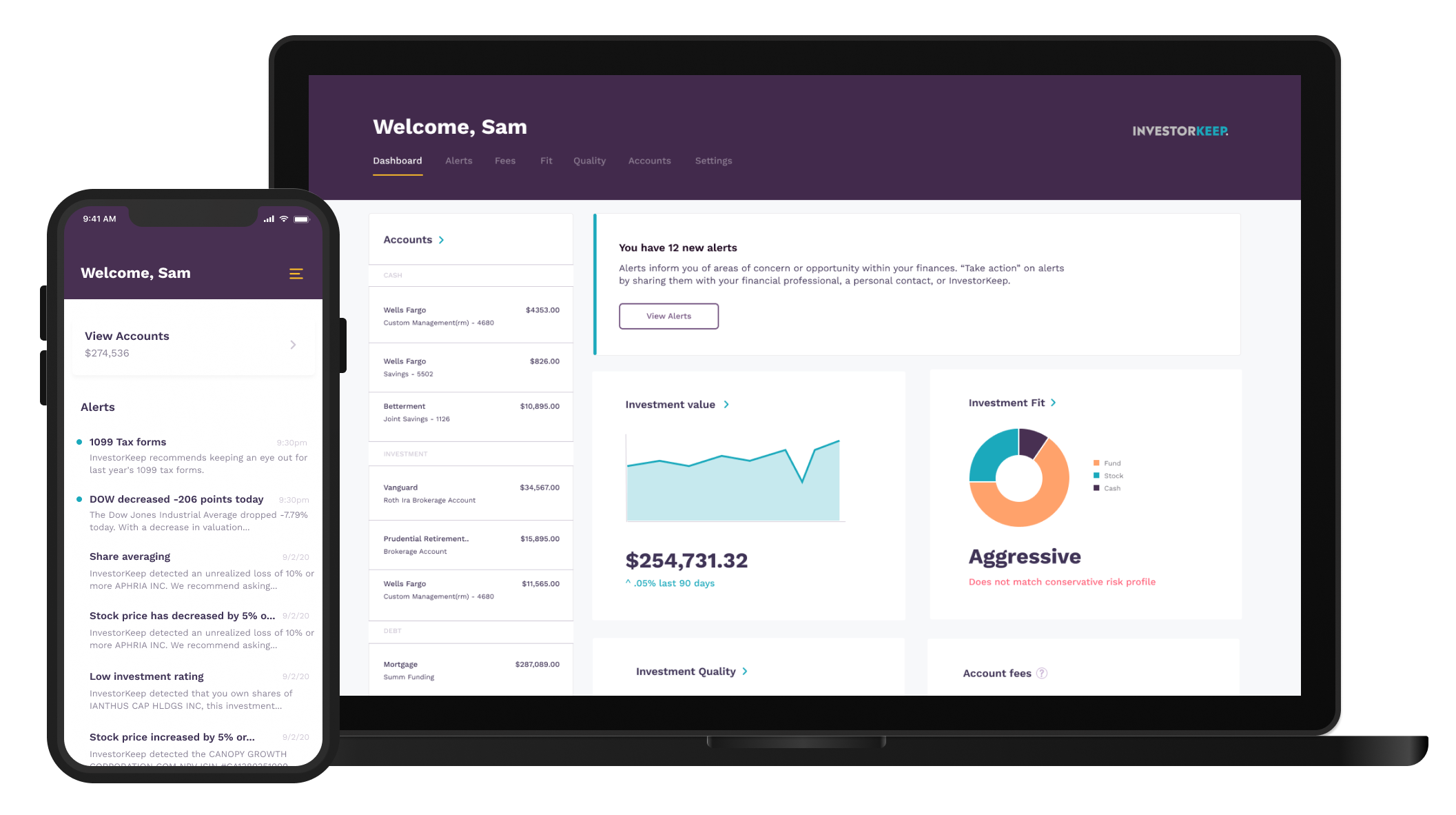 InvestorKeep Dashboard Preview